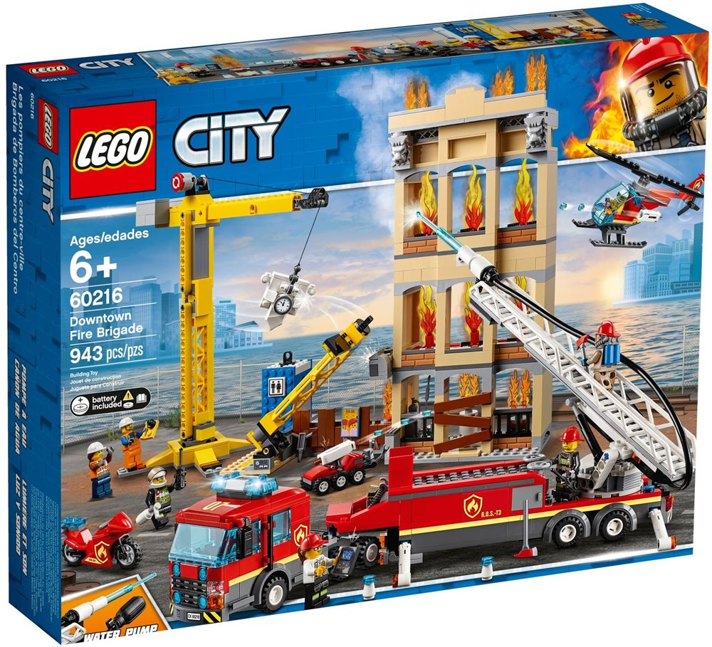 לגו סיטי Lego לגו – 60216 – Downtown Fire Brigade