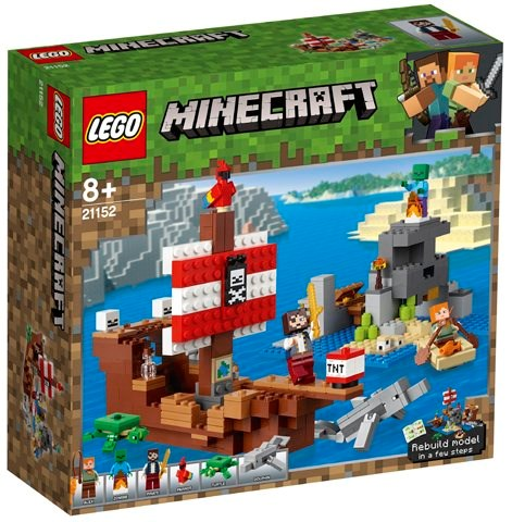 לגו מיינקראפט 21152 LEGO Minecraft 21152 The Pirate Ship Adventure