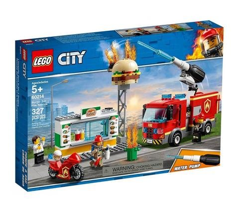 לגו 60214 בורגר בר סיטי - Lego 60214 Burger Bar Fire Rescue City